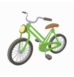 Green bike icon cartoon style vector image