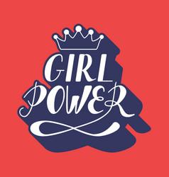 hand written lettering girl power vector image