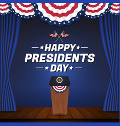 happy presidents day background vector image vector image