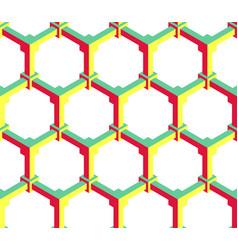 hexagonal geometric pattern vector image vector image