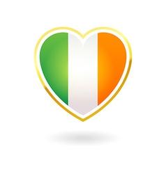 I Love Ireland vector image
