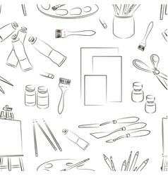 Painter set pattern vector image