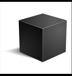 realistic cube vector image