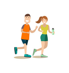 training outside people flat vector image