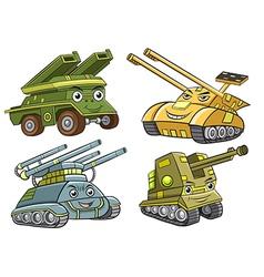 A group of tank cartoon vector