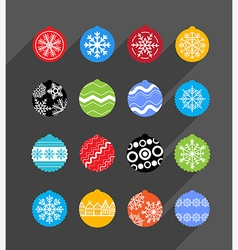 Color Christmas baubles collection Design elements vector image