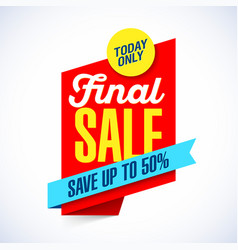 final sale banner template vector image vector image