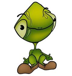 green alien vector image vector image