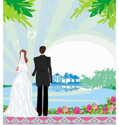 honeymoon in the tropics vector image vector image