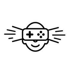 logo icon of virtual reality human face with vector image