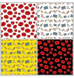 Love and fashion backgrounds in retro style vector