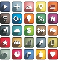 Set of different business icons vector image vector image