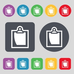 sheet of paper icon sign A set of 12 colored vector image vector image