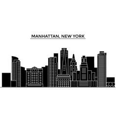 usa manhattan new york architecture city vector image