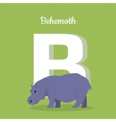 Animals Alphabet Letter - B vector image