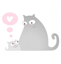 cat and kitten vector image vector image