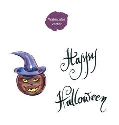 freshly carved jack-o-lantern pumpkin vector image vector image