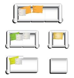 Furniture top view set 31 vector image
