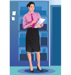 girl business vector image vector image