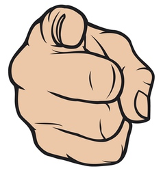 hand pointing finger pointing vector image vector image