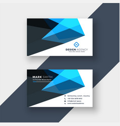 Abstract blue business card design template vector