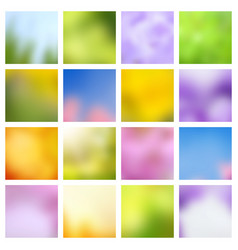 abstract nature spring and summer green and blue vector image