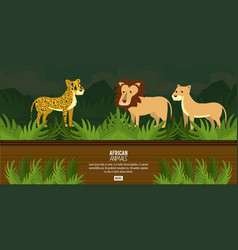 African animals concept vector