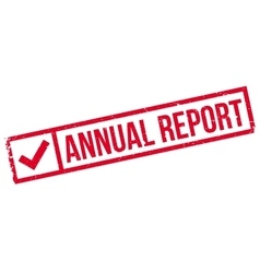 Annual report rubber stamp vector