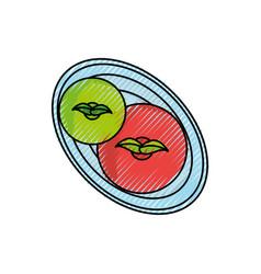 Apples delicious fruit vector
