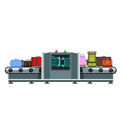 Baggage claim flat vector