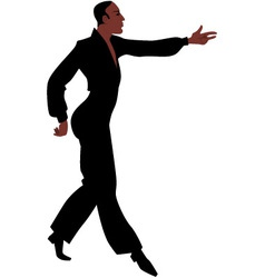 Ballroom Latin Samba dancer vector