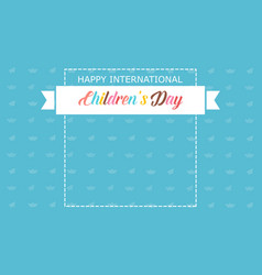 Banner children day style background vector