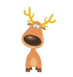 cartoon Christmas reindeer character vector image