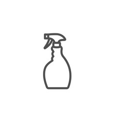 cleaning spray line icon washing liquid vector image