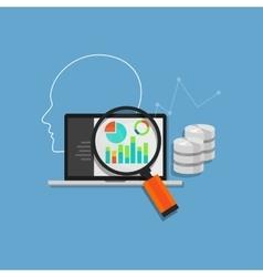 data analysis analytics mining database system vector image