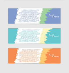 Design banner flyer template vector