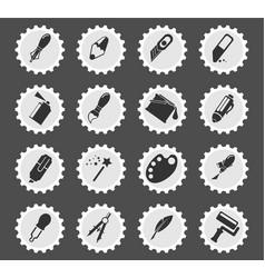 Design tools icon set vector
