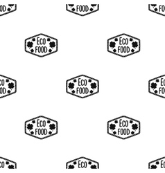 Eco-food icon in black style isolated on white vector image