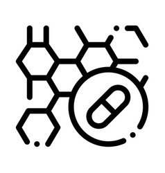 Effect drugs on body supplements icon vector