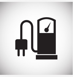 Electric charging station icon on white background vector