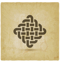 endless knot abstract symbol vintage background vector image