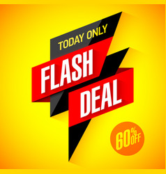 flash deal today only flash sale special offer vector image