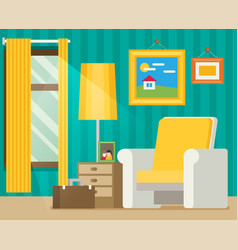 Flat style workplace accesories vector