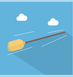 flying broom icon set of great flat icons design vector image