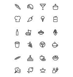 Food Outline Icons 2 vector