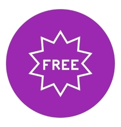 Free tag line icon vector