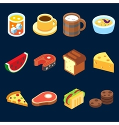 game icons set different food for higher health vector image