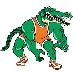 Gator sports wrestling logo mascot vector