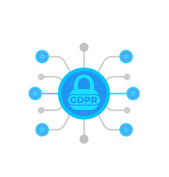 gdpr general data protection regulation vector image