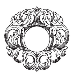 German mirror-frame was made in the 18th century vector